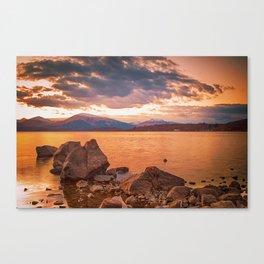 Liquid Gold Loch Lomond Canvas Print