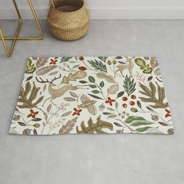 Christmas in the wild nature Rug