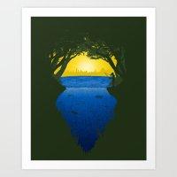 brasil Art Prints featuring Brasil by Yuri Lobo