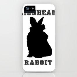 Lionhead Rabbit Silhouette iPhone Case