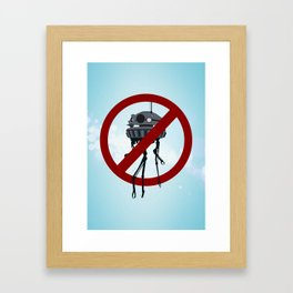 Drones are spooky? Framed Art Print