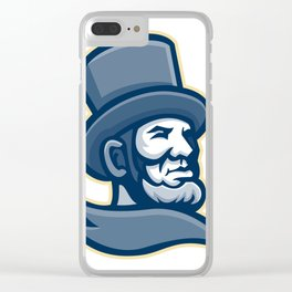 Abraham Lincoln Head Mascot Clear iPhone Case