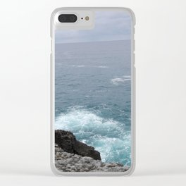 Cold cantabrian sea Clear iPhone Case
