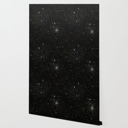 Universe Space Stars Planets Galaxy Black and White Wallpaper