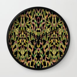 Origami Thicket, 2530h2 Wall Clock