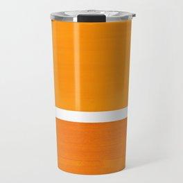 Antique Yellow  & Yellow Ochre Mid Century Modern Abstract Minimalist Rothko Color Field Squares Travel Mug