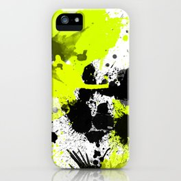 Lime Yellow Black Spats iPhone Case