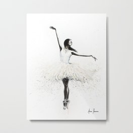 The White Swan Metal Print