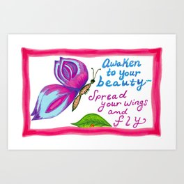 Awaken to Your Beauty Art Print