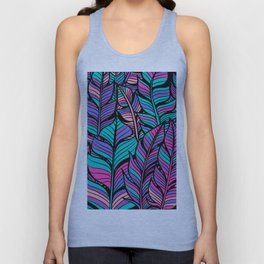 Colourful Feather Pattern Unisex Tank Top