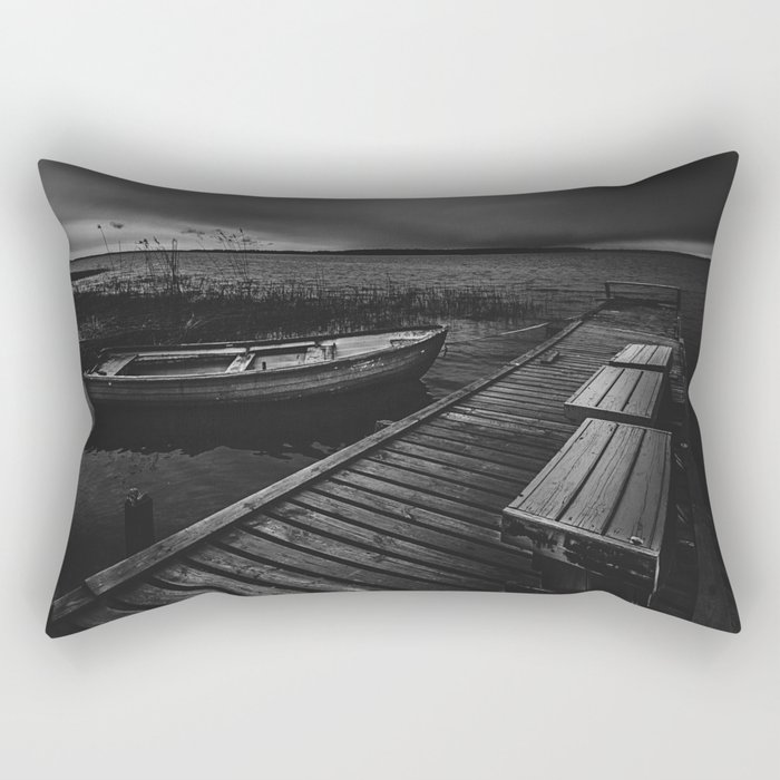 On the wrong side of the lake 5 Rectangular Pillow