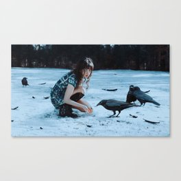 playful omens Canvas Print