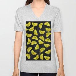 Lemon Slices Pattern Chalkboard Unisex V-Neck