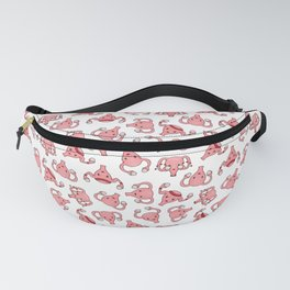 PMS Uterus Period problems, All the emotions! White Fanny Pack