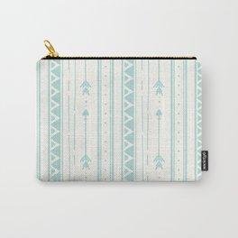 Blush blue white geometric bohemian arrows pattern Carry-All Pouch