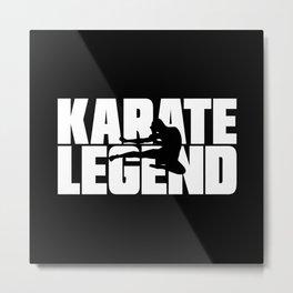 Karate Legend Metal Print