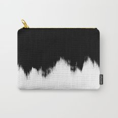 Black And White Abstract Art Carry-All Pouch