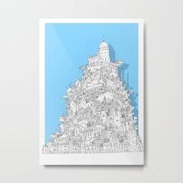 Babel-City Metal Print