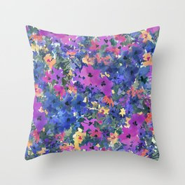 French Red Violet Throw Pillow