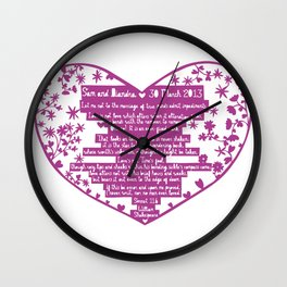 Sam and Diandra Sonnet Wall Clock