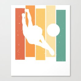 Volleyball Player Game Vintage Retro Canvas Print