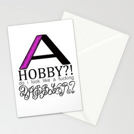 John Waters Does Not Have Hobbies Stationery Cards