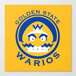 Golden State Warios - Mushroom Kingdom Champs Canvas Print