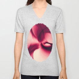 Splash of Wine Fractal Unisex V-Neck