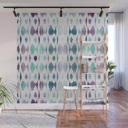 Light As Air Teal Purple Pattern Wall Mural