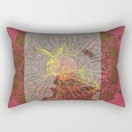 Pink and Gold Pattern Fish Rectangular Pillow
