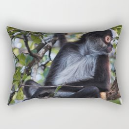 Cute monkey in Belize jungle Rectangular Pillow