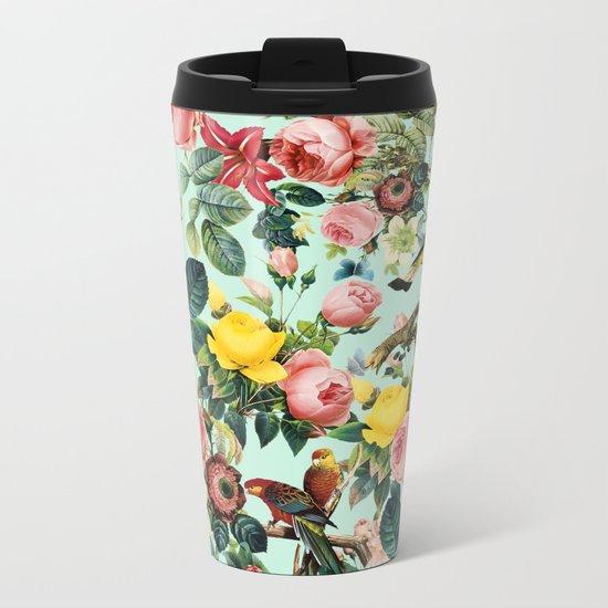 Floral and Birds III Metal Travel Mug