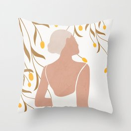 Soft Summer Breeze Throw Pillow
