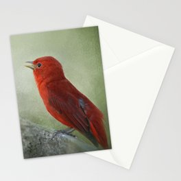 Song of the Summer Tanager 3 - Birds Stationery Cards