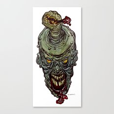 Heads of the Living Dead  Zombies: Zit Zombie Canvas Print