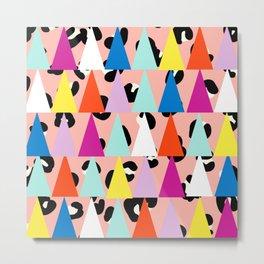 Triangle Animal Print in Blush Metal Print