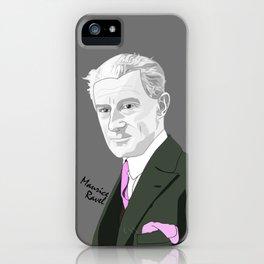 Maurice Ravel (Gray Background) iPhone Case