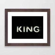 King (Helsinki 2009) Framed Art Print