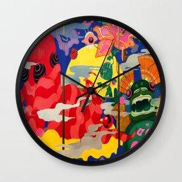 lotus pop art  Wall Clock