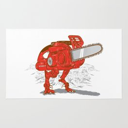 Chainsawrus Rug