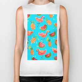 Flamingo Tropical Biker Tank