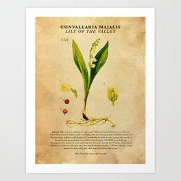 Breaking Bad - Lily of the Valley Art Print