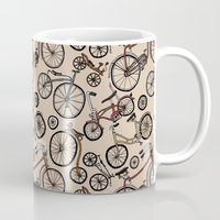 bicycles Mugs featuring Bicycles by Mario Zucca