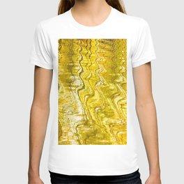 Golden Reflection on Surface Of Lake #decor #society6 #buyart T-shirt