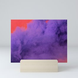 Purple Smoke Mini Art Print
