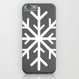 Snowflake (White & Grey) iPhone Case