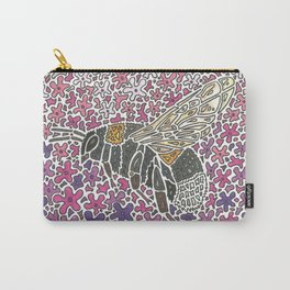 Vanishing Bee by Black Dwarf Designs Carry-All Pouch