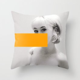 You'd Be Alot Prettier If You Smiled Throw Pillow