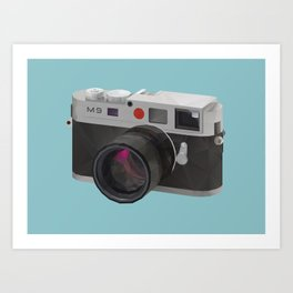 Leica M9 Camera polygon art Art Print