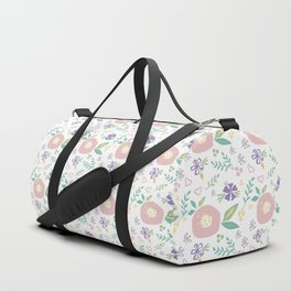 Pink Poppies Duffle Bag